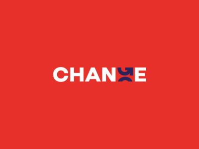 CHANGE logo logo illustrator lettering vector typography art turn logotype arrow logo arrow change