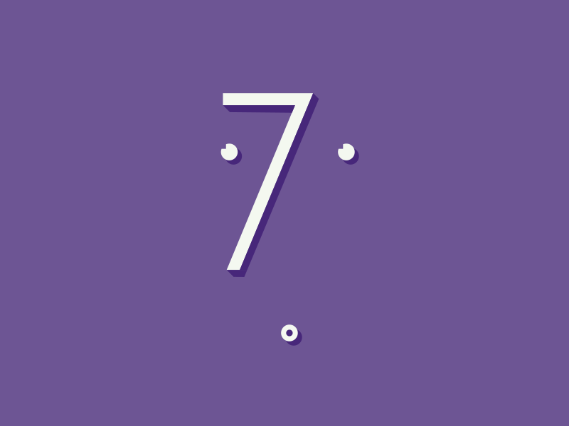 7 typography lettering number typing mouth eyes nose purple challenge 7