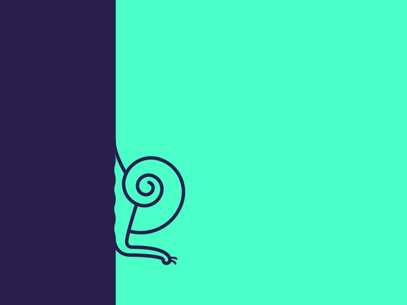 9 the Snail animal green purple shell typography vector contest 9 snail