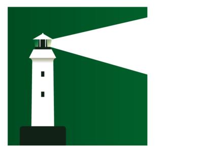 Amodal illustration - Lighthouse