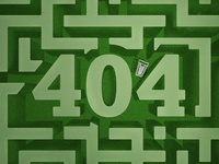 404 Labyrinth illustration vector typography rockwell garden 404 cart supermarket labyrinth lost