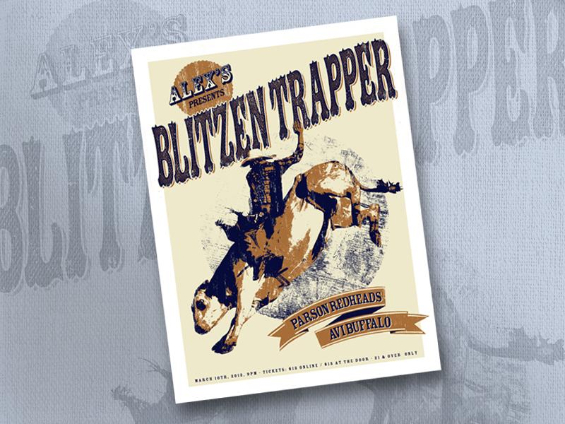Blitzen Trapper Gig Poster screenprint rock poster gig poster poster