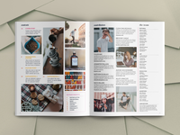 Vivant Magazine Template Interior Spread
