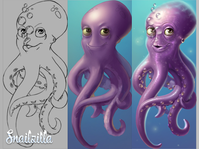 Octopus game art character