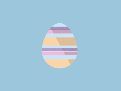 Happy Easter pattern illustrator easter egg flat design illustration