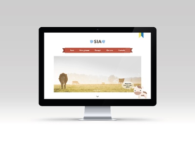 SIA website imac webdesign design cow ice cream mockup website