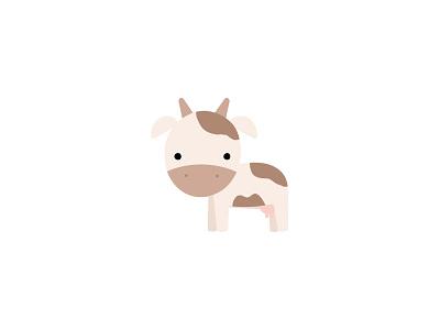 Cow cow illustrator farm cute flat design illustration