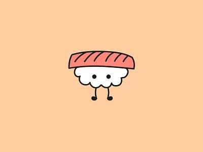 Sushi flat design vector adobe illustrator kawaii cute sushi illustration