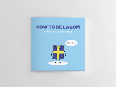 How To Be Lagom vector adobe illustrator cute book quick guide manual flag sweden illustration