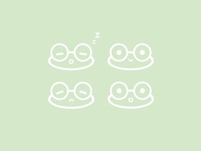 Frog smileys vector adobe illustrator kawaii cute frog illustration