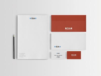 SIA graphic identity flat design graphic identity adobe sia swedish ice cream illustration