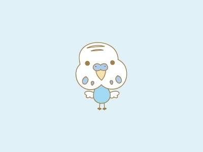 Mr Budgie bird vector adobe illustrator kawaii cute budgie illustration