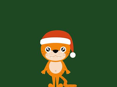 Merry Christmas! holidays vector illustrator vector art tiger illustration