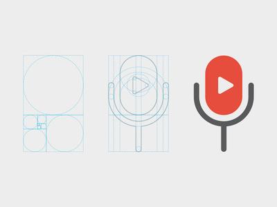 Microphone phi golden ratio fibonacci logo play