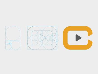 Video phi golden ratio fibonacci logo play
