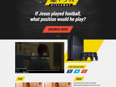 PS4 Question ps4 playstation question cta roboto condensed contest social sports