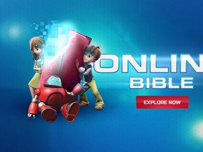 Sb Online Bible eurostile digitize pixelate solar flare button 3d