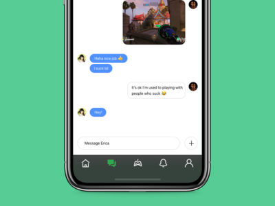 Mobile Chat w/ Menu