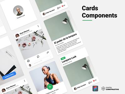 Card Component - Figma free creative components cards community figma mobile web app ui concept design