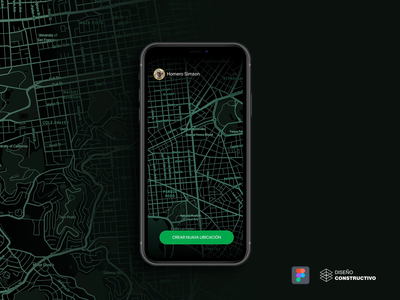 Tracking  Map App - P1 video share ux marker traking figma mapbox maps designs uiux app animation iphone x mobile ui concept design