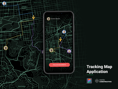 Tracking Map App - P2 share mapbox maps tracking tracking app animation iphone x mobile ui concept app design