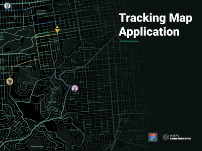Tracking Map App - P3 marker mapbo tracking app tracking maps animation iphone x mobile ui concept app design