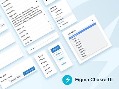 Figma Chakra UI - Library mobile components web site web design design system web kit uikit ui app design figma design figmadesign