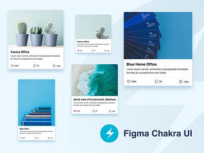 Figma Chakra UI - Example Use ui kit design library form comment like share menu button uidesign web design components images cards ui kits uiux web mobile ui app design