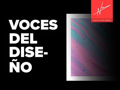 Voces del Diseño -  Podcast mobile web icon typography ux ui branding logo podcast logo design podcast