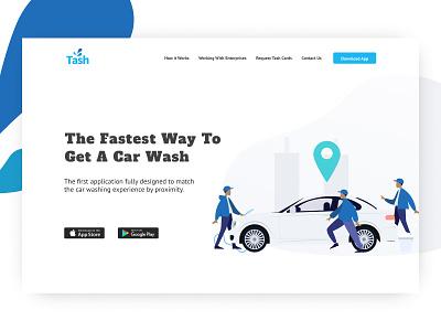 Landing Page for Tash Wash uidesign ux design ui sketch web design design landing page