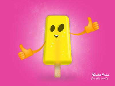 Thanks Ramakrishna thank you first shot ice cream dribbble thanks invitation design debut
