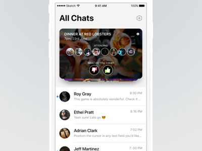 Messages App popular ios 11 chats ui groups polls light iphone ios messages message chat