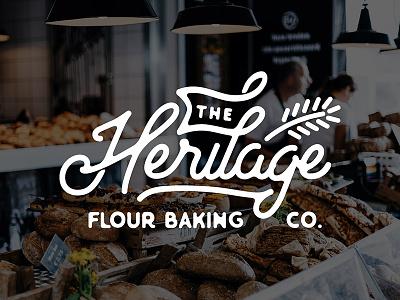 Heritage Flour Baking Co. branding logo design baking bakery logo bakery logo