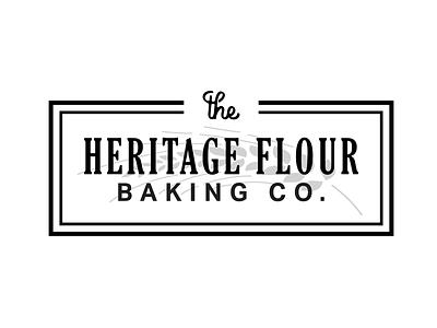 Heritage Flour Baking Co. branding logo design wheat baking bakery logo bakery baker logo