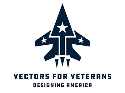 Vectors for Veterans identity non profit logo design branding brand jet military logo
