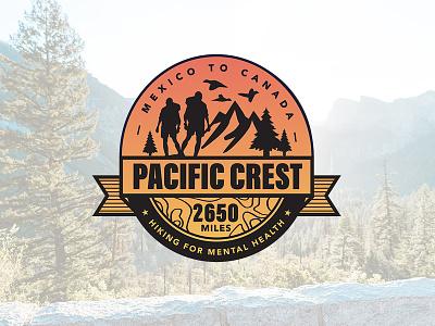 Pacific Crest america identity design logo design branding logo california outdoors hike hiking charity