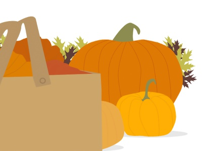 Illustration of a pumpkin pumpkin leaf halloween season border draw october holiday design leaves decoration autumn plant graphic design art illustration