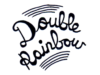 Double Rainbow lettering hand drawn letters type typography