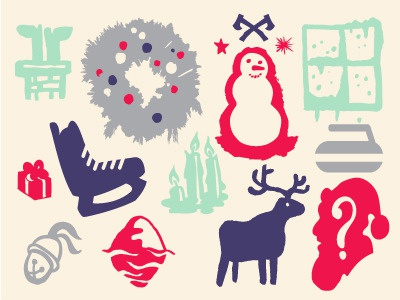 Holiday Essentials dingbat font christmas holidays icons