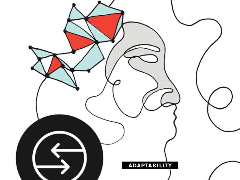 Adaptability drawing line adaptability illustration