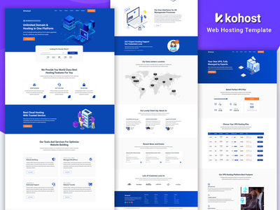 Modern Web Hosting & WHMCS Template email hosting wordpress hosting vps hosting website design web design web hosting template whmcs template domainhosting web hosting