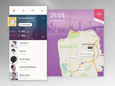 Sports Tracker infographic analytics fitness statistics map interface data material clean minimal ux ui