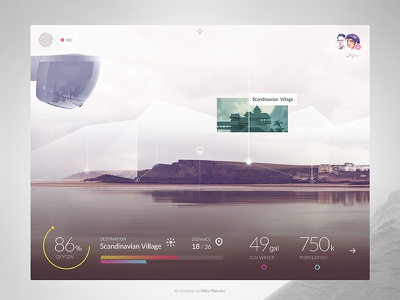 Augmented Reality ar infographic app transparent color augmented interface data analytics hololens minimal ui