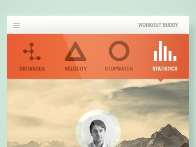 Workout Buddy iphone app ui minimal workout