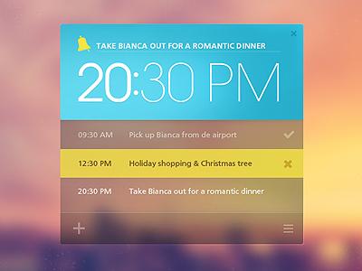 [.PSD] Remind~Me More minimal ui icons app blue orange reminder typography windows