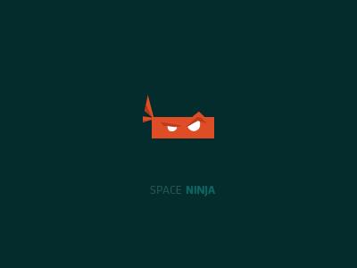 Space Ninja space ninja logo typography orange branding minimal