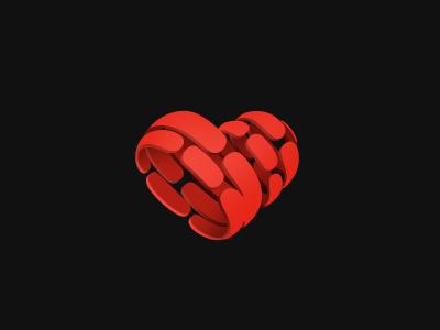 Heart logo logotype heart