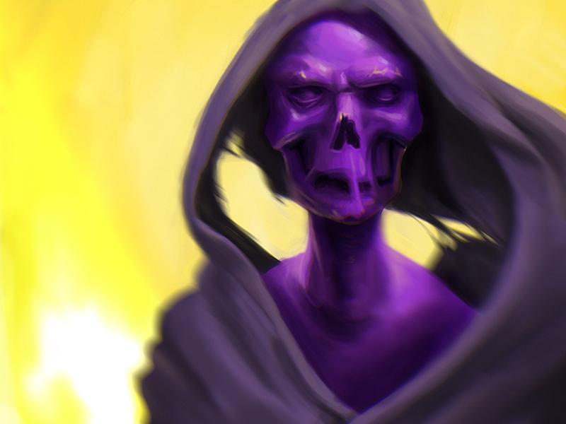 SkullyJuly painting skull digital art skullyjuly