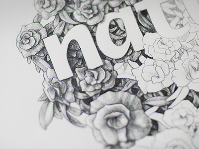 Drawing pencil drawing floral flower