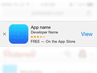 Smart App Banner mockup (PSD)